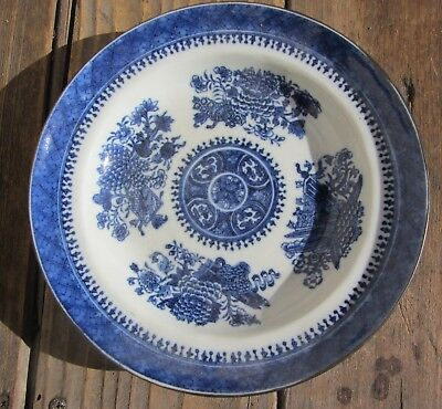 Beautiful Antique Chinese Porcelain Blue And White Plate 8""
