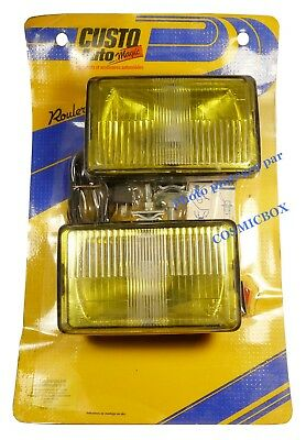 Paire de PHARES kit adaptable RAYDYOT rally complet E11 31 roud fog lamp light