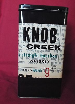 Knob Creek Bourbon Whiskey - Promotional Steel Bottle Holder Gift Tin
