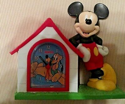 Mickey Mouse And Pluto In Dog House Alarm Clock