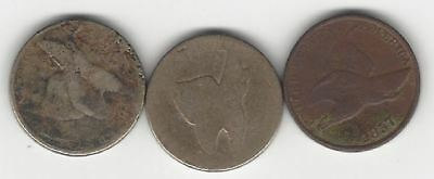 Flying Eagle Cents - 2 No Date and One 1857 - (LOT OF 3).