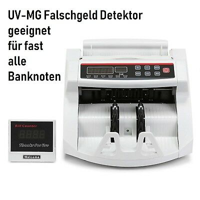 Banknote Zähler mit UV-MG Falschgeld Detektor LED Display Currency Counter