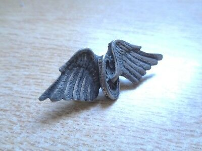 Vintage Winged Wheel Motorcycle Pin Harley Davidson Vest Badge Classic HD Police