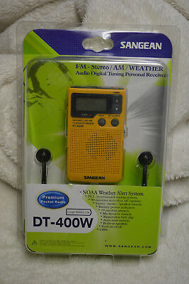Sangean DT-400W FM-Stereo/AM/Weather Premium Pocket Radio