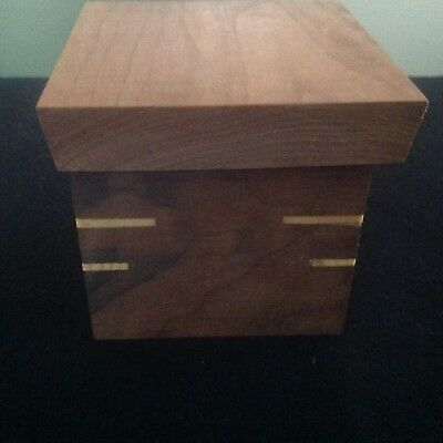 Wooden Box, Handmade from Exotic Wood, Trinket/jewelry Keepsake Storage Box
