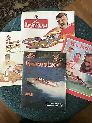 Miss Budweiser Unlimited Hydroplane Yearbooks 1968 Rare