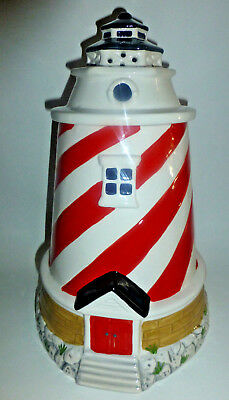 Jeffery Banks for David's Cookies Ceramic Lights-Up & Flashes LIGHT HOUSE JAR