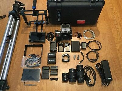 RED SCARLET X MYSTERIUM-X SCARLET M-X CAMERA W/ EXTRAS, HUGE BUNDLE, CAGE,tripo