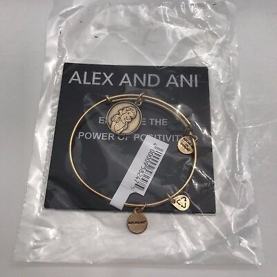 Alex & Ani Walt Disney Snow White Bangle Bracelet Gold Charm Parks RETIRED New