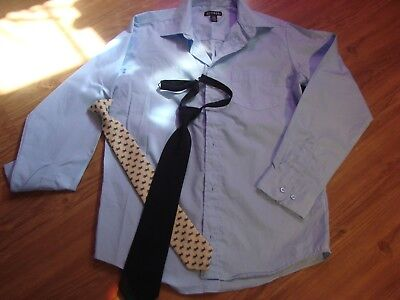 bedae71d188 George Boys Button Down Dress Shirt Light Blue with Clip On Tie   Bonus 14