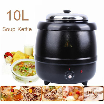 10L Soup Kettle Warmer Heat Boiler Electric Commercial Food Stainless Steel