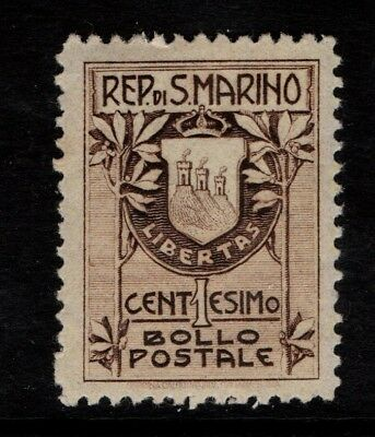 San Marino 1907 1c Coat of Arms SG 53a  MNH
