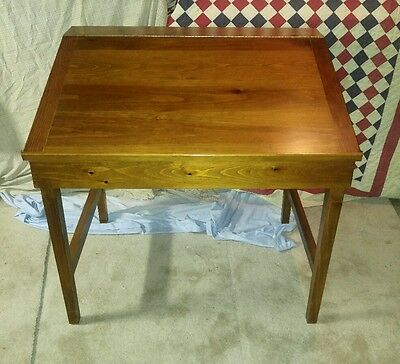 Vintage Unique Hand Made 2Pc Pine Wood Drafting Table Very Nice Drafter Desk