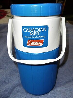 Vintage Coleman Canadian Mist Water Jug Cooler Imported Whisky Collectible NiCe