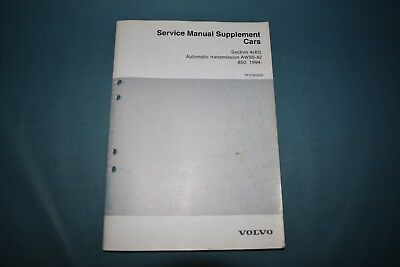 1994 Volvo 850 Service Manual Supplement AW50-42 Automatic Transmission Repair