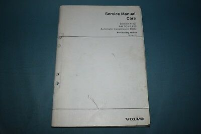 1996 Volvo 850 Service Manual Preliminary AW50-42 Automatic Transmission Repair