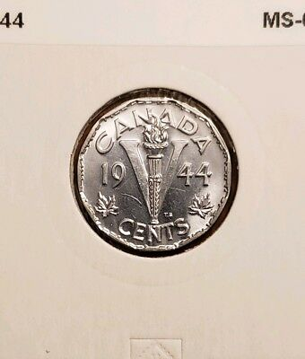 1944 Canada 5 cents Uncirculated