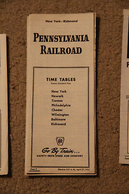 1952 Pennsylvania RR Time Table, Fine Condition