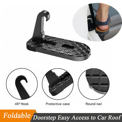 Foldable Door Latch Hook Doorstep Foot Pedal Ladder Easy Access to Car SUV Roof