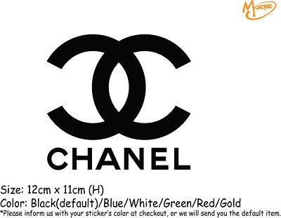 CHANEL Stickers Reflective Decal Sticker 12X11cm  Business Signs Best Gifts