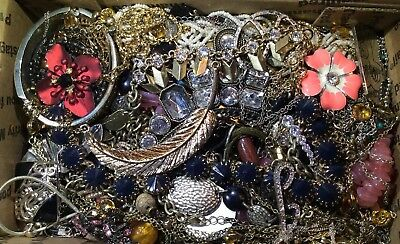 Huge Vintage - Now Jewelry Lot Estate Find Junk Drawer UNSEARCHED UNTESTED #596