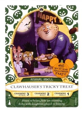 CLAWHAUSER'S TRICKY TREAT - Sorcerers of the MK Card #09 P RARE (From MNSSHP)