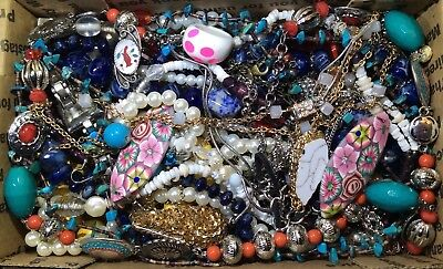 Huge Vintage - Now Jewelry Lot Estate Find Junk Drawer UNSEARCHED UNTESTED #597