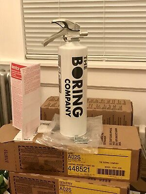 AUTHENTIC SOLD OUT BRAND NEW IN BOX Boring Company FIRE Extinguisher!!