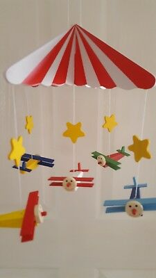 New in box Wooden cot/baby mobile aeroplanes