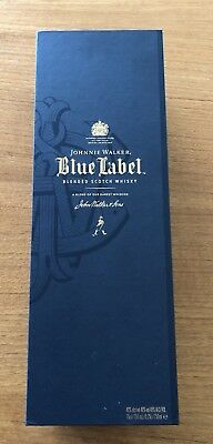 Johnnie Walker Blue Label Scotch Blended Whiskey Empty Box