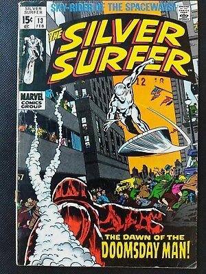 SILVER SURFER #13 Dawn of the Doomsday Man Marvel Comics 1969 Lee Buscema