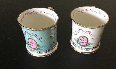 Royal Wedding Of Charles And Camilla Set Of 2 Commemorative Cups Different Dates