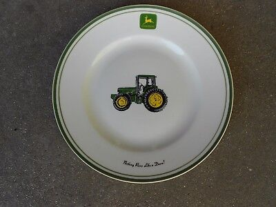 "Gibson John Deere  11 1/4"" DINNER PLATE   Nothing Runs Like a Deere"