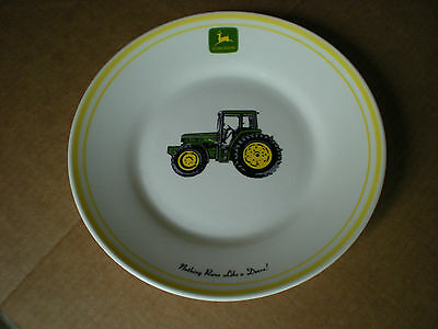 "Gibson John Deere 9""  DINNER PLATE  Yellow Band Nothing Runs Like a Deere"