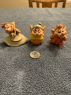 "Harmony Kingdom Disney's ""Cinderella"" Jaq, Gus & Suzy Sewing Mice Rare"