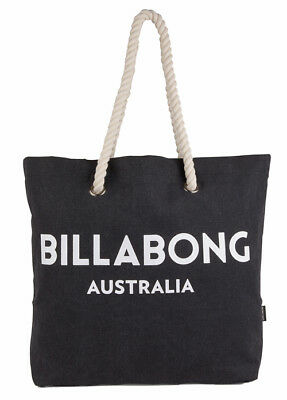 "Brand New + Tag Billabong Large Beach Bag S Gym Travel ""essential"" Black Bnwt"
