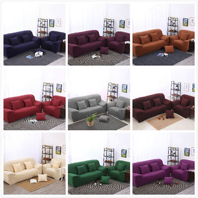 12Types 1 2 3 4 Seater EASY Stretch Couch Sofa Lounge Covers Recliner Dining