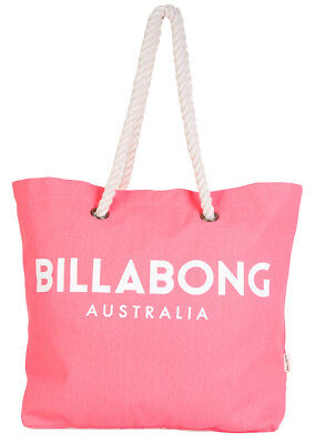 "Brand New + Tag Billabong Large Beach Bag S Gym Travel ""essential"" Pink Coral"