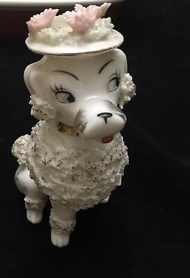 """VINTAGE White SPAGHETTI POODLE MADE IN JAPAN 7"""""""