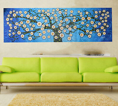 Art Painting Original blue Jane Crawford tree landscape Australia Aboriginal