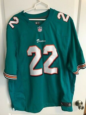 sports shoes 34a7c b2ed5 NIKE NFL JERSEY XXL Miami DoLphins Embroidered Reggie Bush Jersey #22 mens