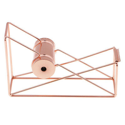 Desktop Tape Dispenser, Wire Metal, Rose Gold, Sturdy Durable Office Supply