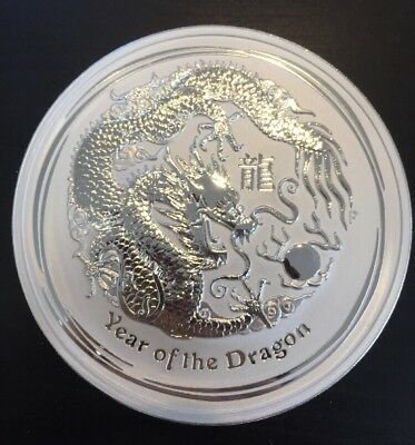 "30 Dollars 1 Kilo 999 Feinsilber Münze "" Year of the Dragon "" 2012 Elizabeth II"