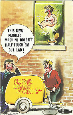 Vintage 1970's Bamforth's COMIC Postcard (as new condition) super flush #407