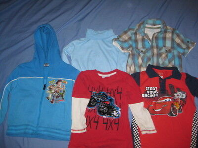 Boys Clothes Size 5 Including Toy Story & Cars