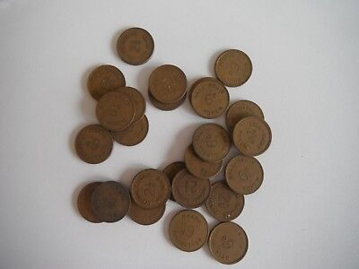 Bell Fruit Token Job Lot - 26 x 6d / 2.5p