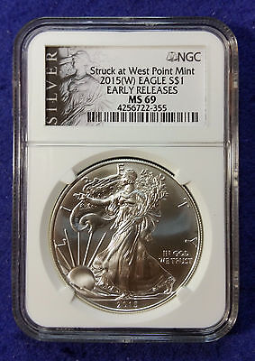 2015 (W) American Silver Eagle NGC MS69 Early Releases Liberty Label