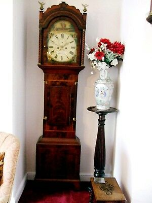 Super Regency inlaid mahogany longcase/grandfather clock c1825 gwo by Cettis