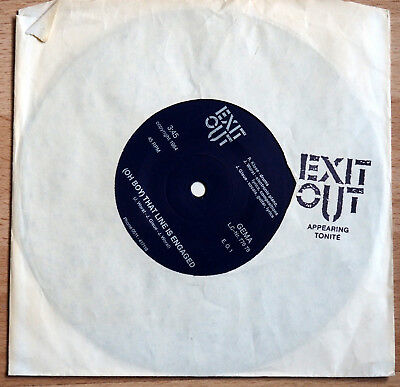 """EXIT OUT - (Oh Boy)That Line Is Engaged 7"""" EP // ex- 39 CLOCKS"""