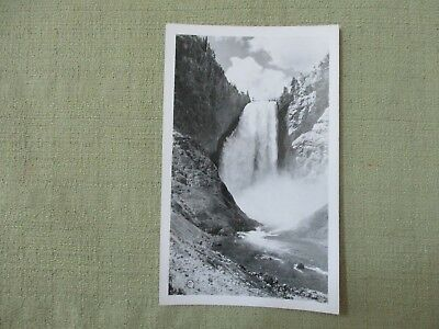 Vintage Post Card LOWER WATERFALL in Yellowstone National Park